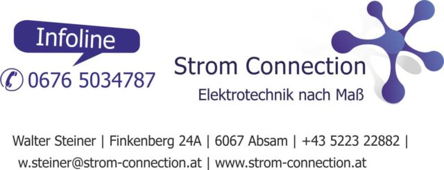 Strom Connection – Elektrotechnik Steiner Walter